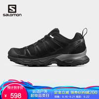 萨洛蒙(Salomon)男女鞋休闲运动鞋网面透气跑步鞋X ULTRA ADV 黑色410871 UK9(43 1/3)