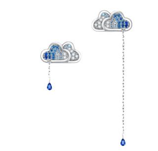 ILY ILY-520021 女士云与水不对称耳钉