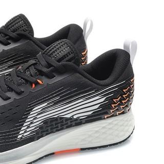 LI-NING 李宁 赤兔4代 男士跑鞋 ARMQ009-10 黑色/橙色 39