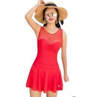 361° 女士连体裙式泳衣 SLY191017-2 红色