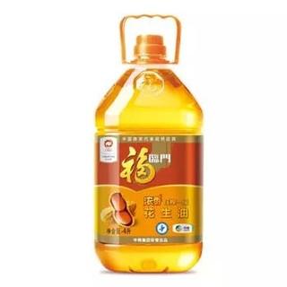 福临门 浓香压榨一级花生油 4L *3件
