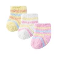 Bornbay 贝贝怡 204P2298 婴儿保暖棉袜子三双装 多色 2-4岁