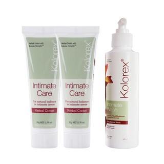 Kolorex 女性私处护理膏 50g*2+私处洗护液 250ml