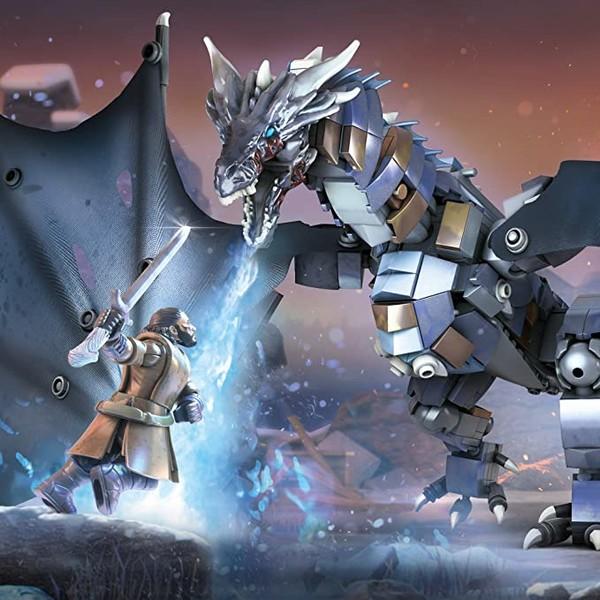 中亚Prime会员:MEGA BLOKS 美高积木 GMN74 权力的游戏 冰龙 VS 雪诺
