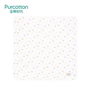 全棉时代 PurCotton 婴儿儿童6层水洗绗缝小鸭子纱布宝宝浴巾 95*95cm 1件装 +凑单品