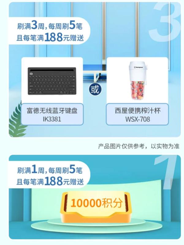 北京银行 消费达标福利