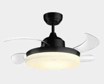 OPPLE 欧普照明 黑色隐形风扇灯 非智能遥控器款