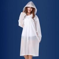 荷馨月 成人非一次性雨衣 白色 *3件