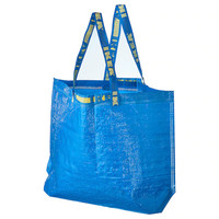 IKEA 宜家 弗拉塔 搬运袋 中 蓝色 36公升