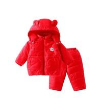 Annil 安奈儿 婴儿棉衣套装连帽