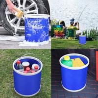 HKML 洗车折叠水桶 便携户外钓鱼 蓝色9升