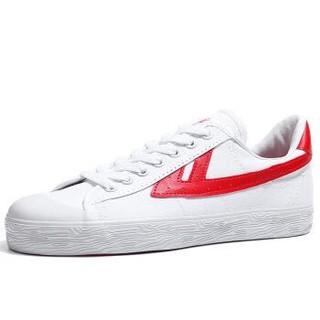 回力官方旗舰 经典WB-1休闲板鞋 男女情侣田径篮球鞋运动帆布鞋 潮鞋明星同款 白红WB-1(偏大选小一码) 42