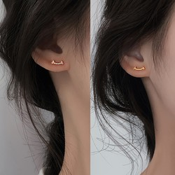 Sentubila 尚都比拉 E020S2139G02 女士 S925纯银 镶锆微笑耳钉