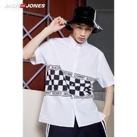 JackJones 杰克琼斯 219104506 男士短袖衬衫衣