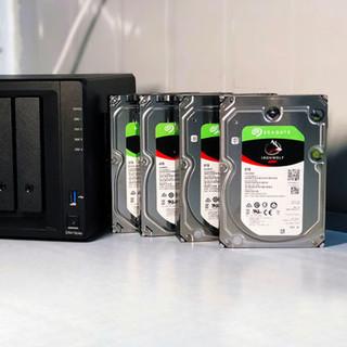 Seagate希捷酷狼 pro 机械硬盘4t网络存储服务器nas家庭云raid磁盘阵列硬盘cmr/pmr台式机电脑内置4tb硬盘