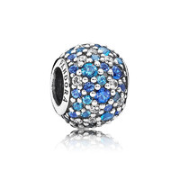 PANDORA 潘多拉 925银蓝色串珠银饰挂件 791261NSBMX *2件