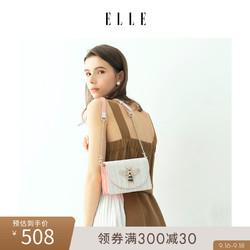 ELLE包包女包新款单肩包80915时尚翻盖蜜蜂包小方包斜挎包女