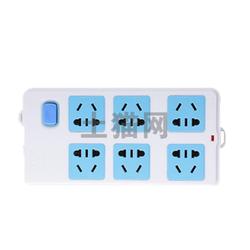 BULL/公牛-基础系列 总控接线板插座(无线6位)-(GN-109K)/1只