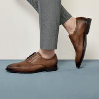 ECCO爱步商务职场正装皮鞋男雕花布洛克鞋 卡尔翰640774