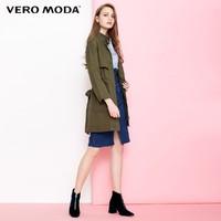 VERO MODA 318321543 女款中长款风衣外套