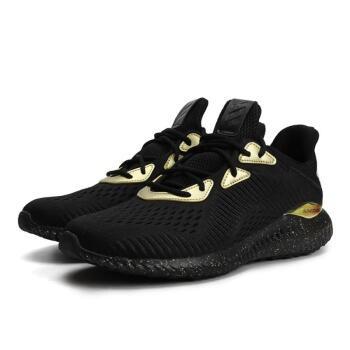 adidas 阿迪达斯 Alpha Bounce 男士跑鞋 FV8239 黑金 42