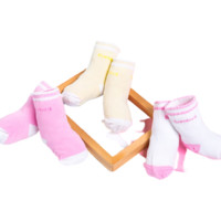 Bornbay 贝贝怡 193P2073 婴儿加厚保暖长袜三双装 多色 3-12个月