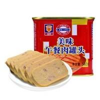 京东PLUS会员:MALING 梅林 午餐肉 340g *5件