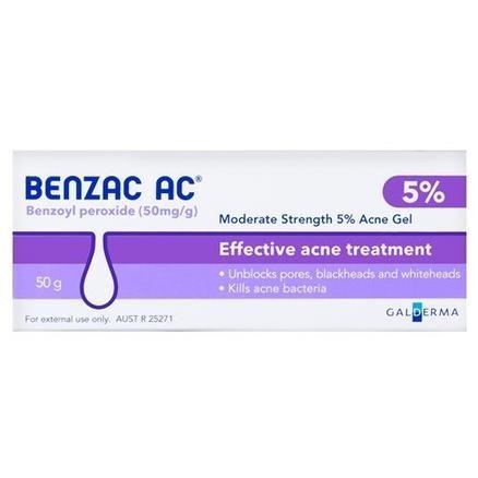 Benzac 5%温和控油去痘凝胶 50g