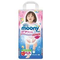 Moony 尤妮佳 女宝宝拉拉裤 XL38片 *4件