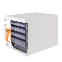 M&G 晨光 ADMN4033 四层桌面文件柜 灰色 +AGPV8201 大容量全针管中性笔12支 +凑单品