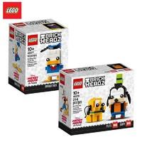 LEGO 乐高 方头仔 40377唐老鸭+40378高飞和布鲁托