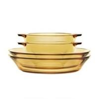 CORNINGWARE 康宁器皿 琥珀玻璃碗盘餐具(双耳碗*2 深盘*2)