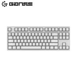GANSS 高斯 GS87D 白光版 蓝牙双模 机械键盘(Cherry轴、PBT)