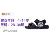 adidas kids 阿迪达斯 4-14岁 男童女童 露趾防滑儿童运动沙滩凉鞋BA9288