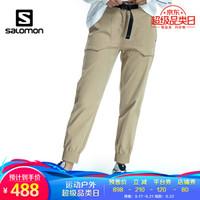 萨洛蒙(Salomon)男女情侣户外舒适休闲 防泼水长裤 BIG POC PANT 卡其色 208019 XL