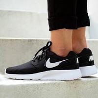 耐克Nike 正品 Kaishi Run男子运动休闲黑白跑步鞋轻便654473-010