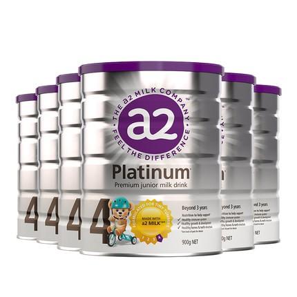 A2 艾尔 白金婴儿奶粉 4段 900g 6罐