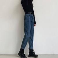 Herscity 女士棉质高腰牛仔裤