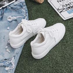 佩觉春季新款小白鞋女ins帆布鞋学生韩版百搭平底板鞋夏季女鞋子 790白色(帆布面) 35