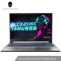 ThundeRobot 雷神 911MT黑武士 15.6英寸游戏笔记本电脑(i5-10200H、16GB、 512GB、RTX2060、144Hz)