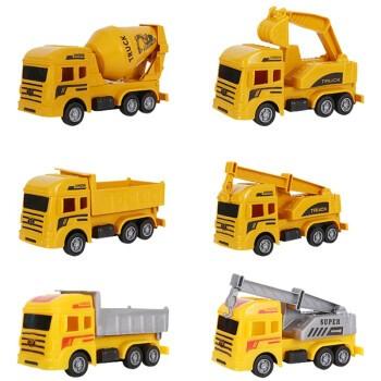砺能  儿童惯性耐摔工程车玩具 四只装