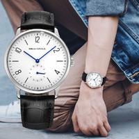 【纤薄8MM】国民系列男士手动机械个性小秒盘纤薄表盘手表男表