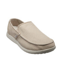 crocs 卡骆驰 男士纯色低帮一脚蹬帆布鞋202972-2U6 卡其/卵石色44
