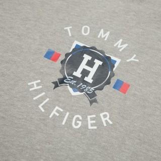 TOMMY HILFIGER 汤米·希尔费格 男士连帽套头卫衣 灰色S