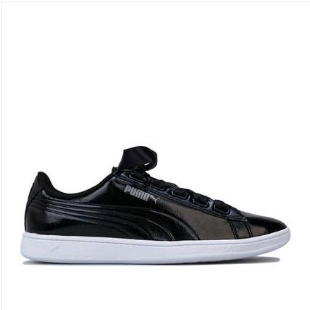 PUMA 彪马 Vikky Ribbon 女士跑鞋 366417-01 黑色 36.5
