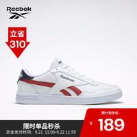 Reebok男子休闲板鞋ROYAL TECHQUE T 低帮百搭小白鞋FV5777 FV5743_白色/红色/藏青色 39