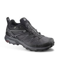 萨洛蒙(Salomon)男款 户防水透气徒步鞋 X ULTRA 3 WIDE GTX 黑色 406596 UK9(43 1/3)
