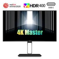 AOC 27英寸 4K AH-IPS四边微边 HDR400认证 Type-C接口 65W笔记本充电 双向旋转升降 电脑显示器 U27U2D