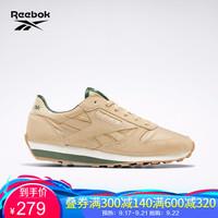 Reebok锐步 运动经典CL LTHR AZ男女低帮休闲鞋 Q47277_米色/绿色 36.5 *2件