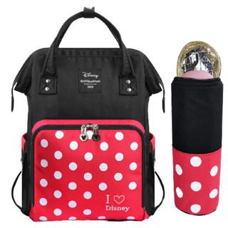 Disney 迪士尼 迪士尼(Disney)妈咪包多功能大容量双肩包外出背包时尚妈妈包手提母婴包 波点妈咪包